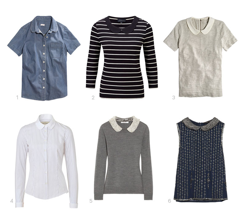 cef59d62c60 2 – Viyella Peter Pan Stripe Jersey Top from John Lewis 3 – Peter Pan  Collar Tee from J.Crew Factory 4 – White/Violet Striped Blouse with Lace by  Paul ...