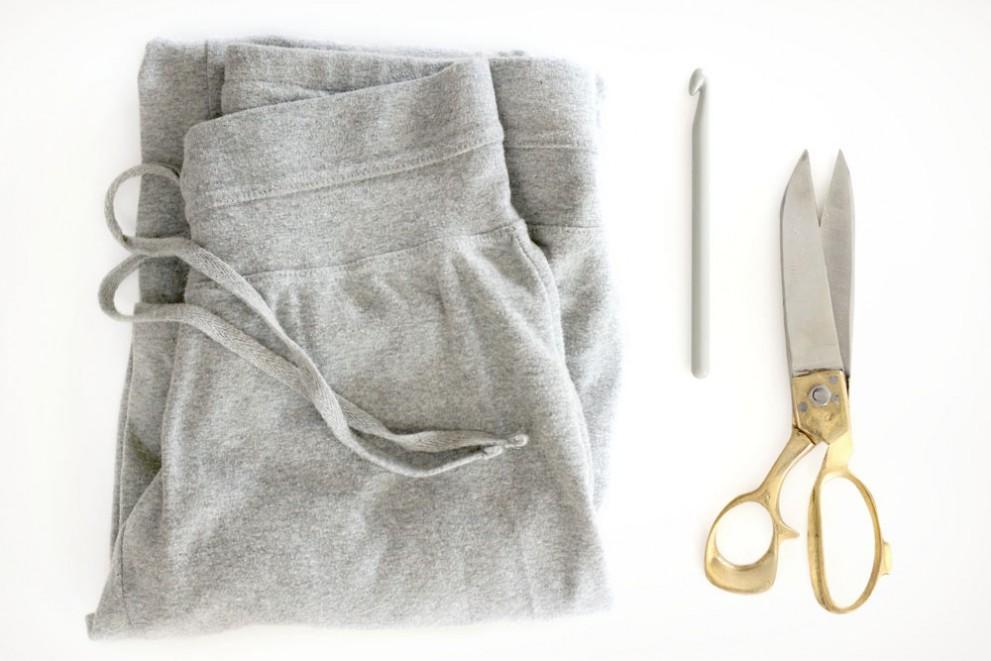 Sweatpants and saranwrap